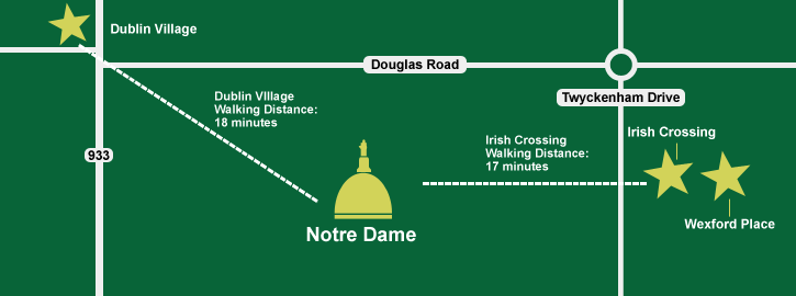 Notre Dame University Student Housing Map